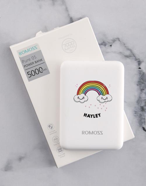 personalised: Personalised Rainbow Romoss Power Bank!