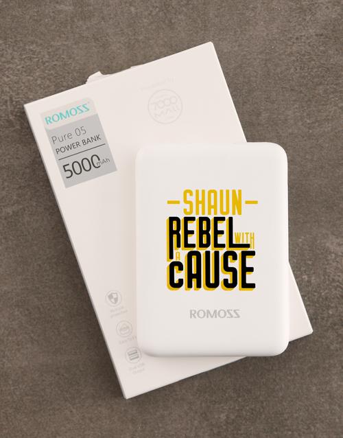 bosses-day: Personalised Rebel Romoss Power Bank!