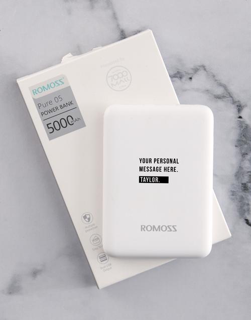personalised: Personalised Name Romoss Power Bank!