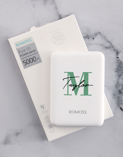 personalised: Personalised Initial Romoss Power Bank!