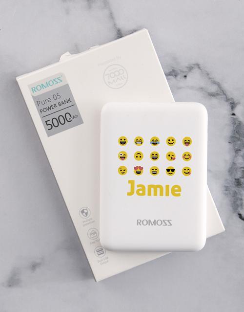 personalised: Personalised Emoji Romoss Power Bank!