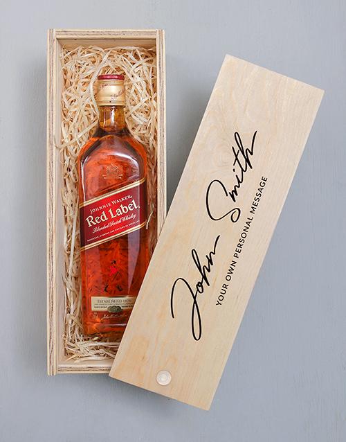 personalised: Personalised Monogram Johnnie Walker Crate!