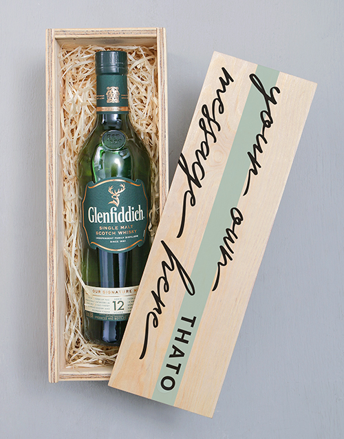 personalised: Personalised Glenfiddich Printed Crate!