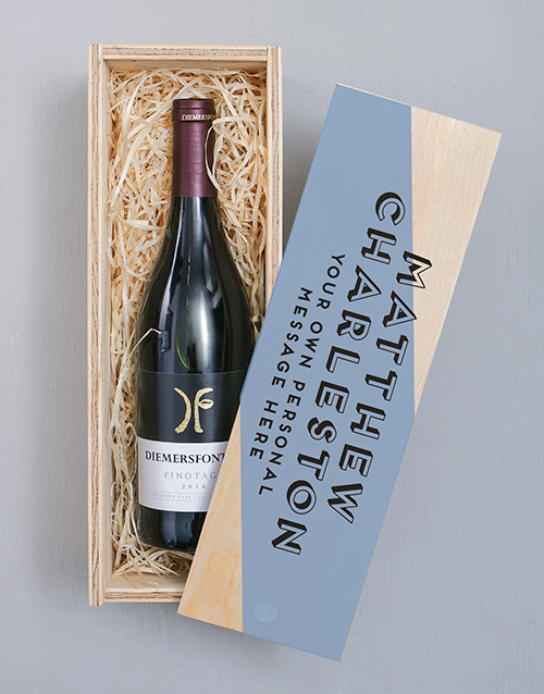 fathers-day: Personalised Diemersfontein Pinotage Crate!