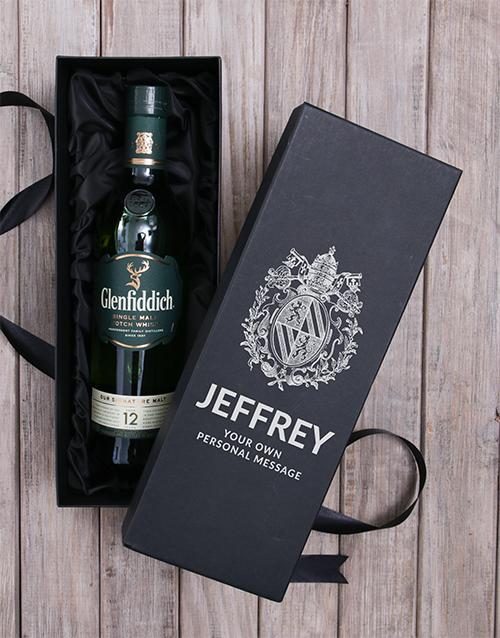 christmas: Personalised Glenfiddich Wine Box!