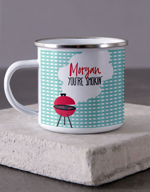 love-and-romance: Personalised Love in the Air Camper Mug!