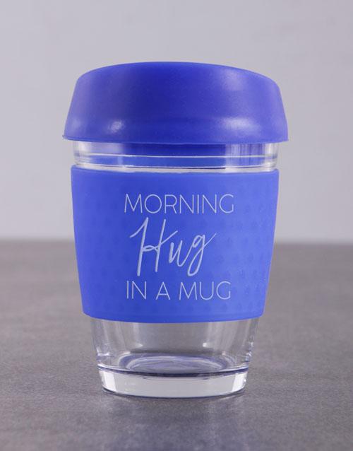 personalised: Personalised Morning Hug In a Travel Mug !