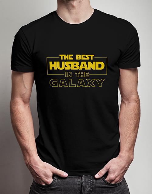personalised: Personalised Best Husband Black Tshirt!