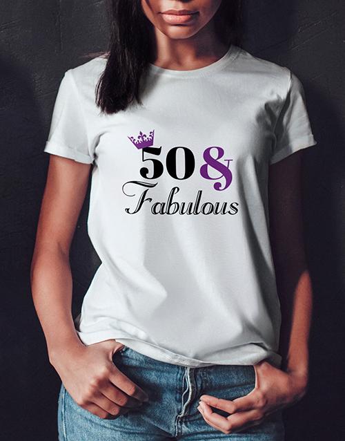 personalised: Personalised Fabulous Birthday Ladies T Shirt!
