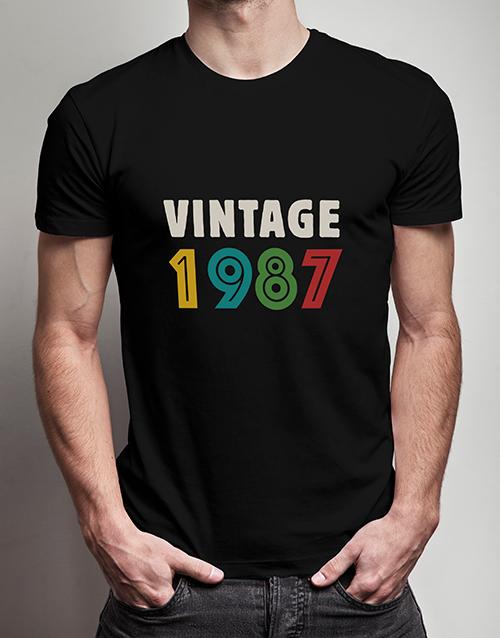 clothing: Personalised Vintage Year T Shirt!