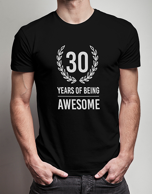 personalised: Personalised Years of Being T Shirt!