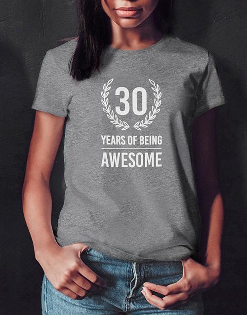 personalised: Personalised Years of Being Ladies T Shirt!