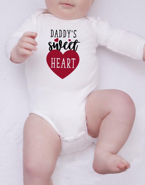 baby: Personalised Sweetheart Onesie!