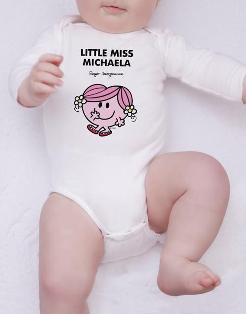 apparel: Personalised Little Miss Hug Onesie!