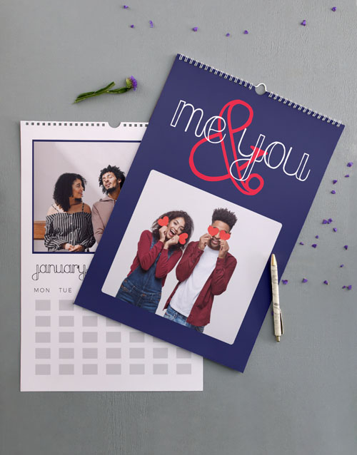 valentines-day: Personalised Us Wall Calendar!