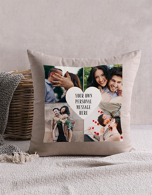 valentines-day: Personalised Romantic Grid Scatter Cushion !