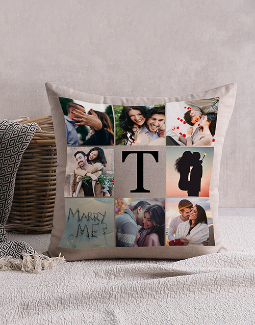valentines-day: Personalised Memory Collage Scatter Cushion!