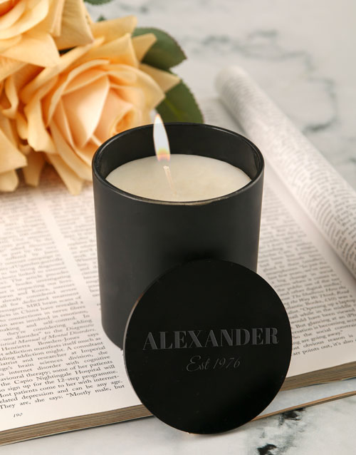 personalised: Personalised Chic Vanilla Scented Candle Set!