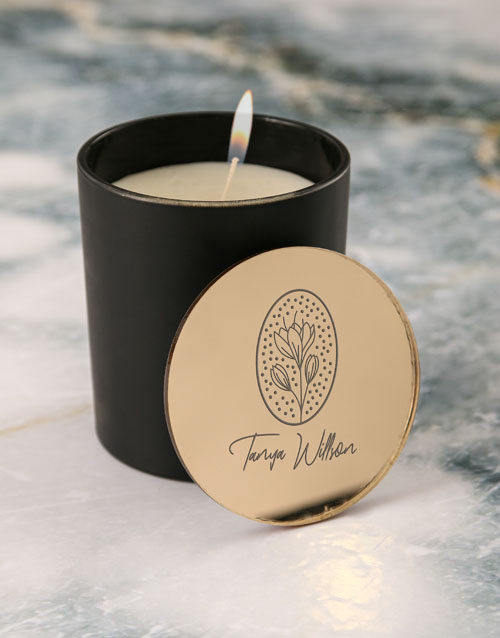 personalised: Personalised Glamorous Vanilla Scented Candle Set!