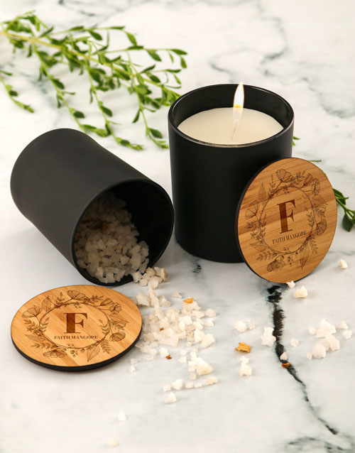 personalised: Personalised Floral Vanilla Scented Candle Set!