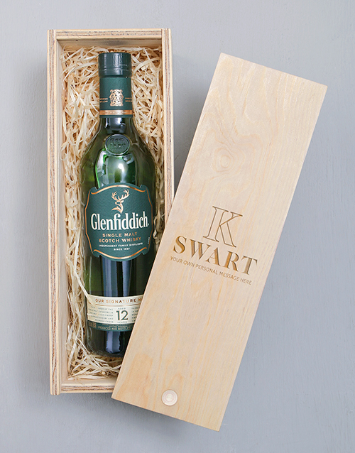 fathers-day: Personalised Glenfiddich Crate!