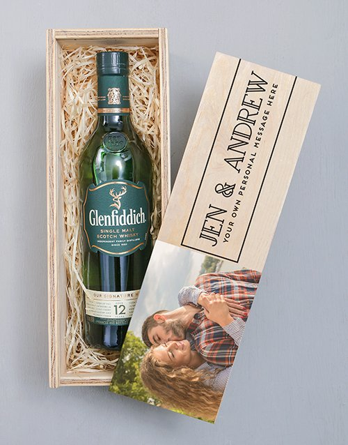 fathers-day: Personalised Photo Glenfiddich Crate!