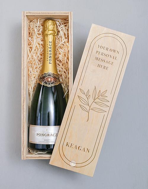 fine-alcohol: Personalised Botanic Pongracz Crate!