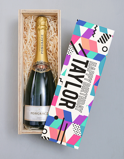 personalised: Personalised Happy Birthday Pongracz Crate!