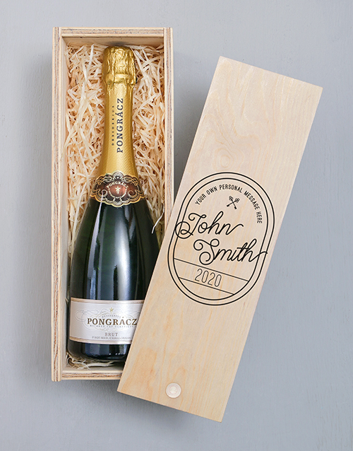 fine-alcohol: Personalised Vintage Stamp Pongracz Crate!