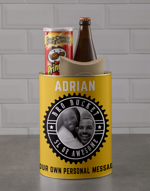 fathers-day: Personalised Photo Stamp Bro Bucket!