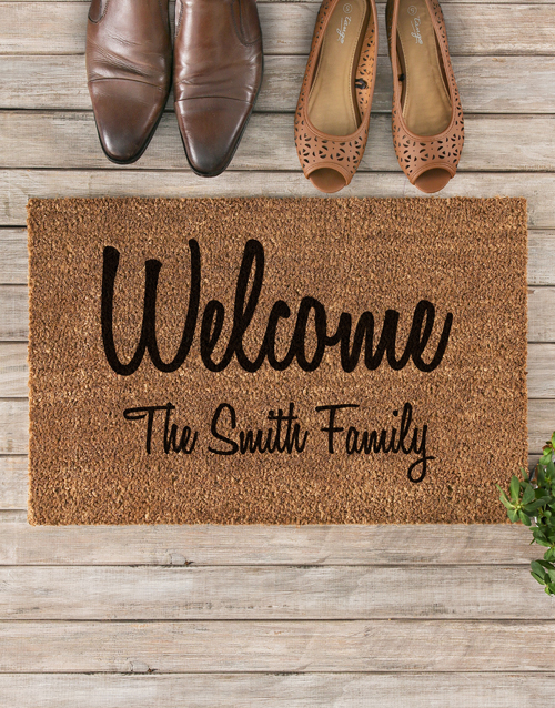 new-years: Personalised Welcome To Our Home Doormat!