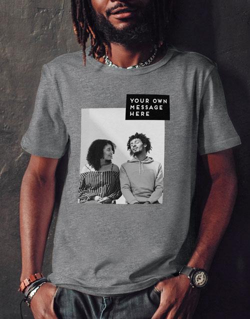 clothing: Personalised Block Image T Shirt!