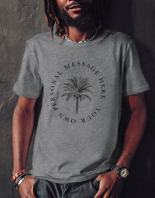 valentines-day: Personalised Palm Tree T Shirt!