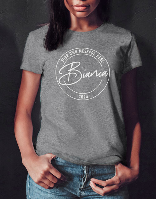 clothing: Personalised Retro Stamp Ladies T Shirt!