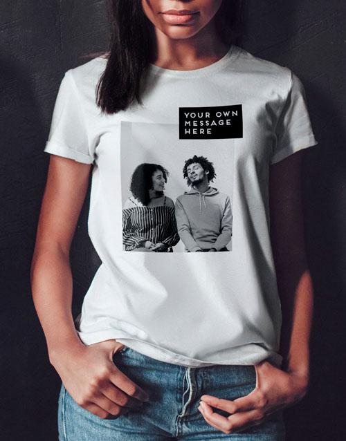 clothing: Personalised Photo Block Ladies T Shirt!