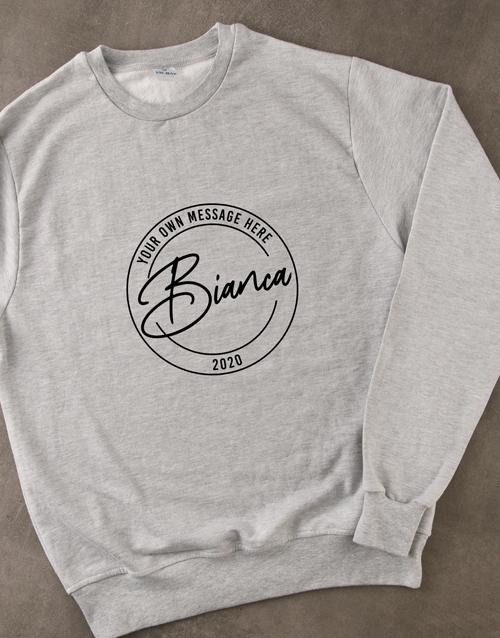 personalised: Personalised Stamp Grey Sweatshirt!