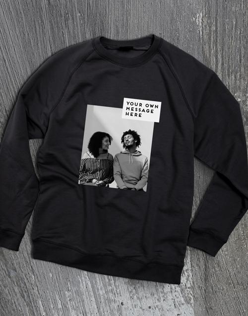 clothing: Personalised Photo Block Black Sweatshirt!
