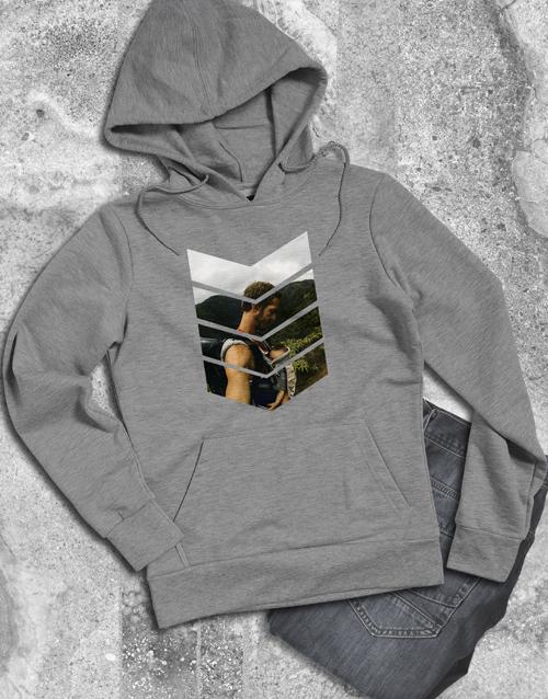 personalised: Personalised Pattern Photo Grey Hoodie!
