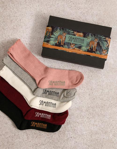 christmas: Personalised Tiger Frills Sock Pack!