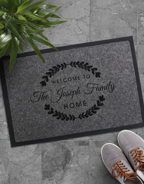 house-warming: Personalised Family Home Doormat!