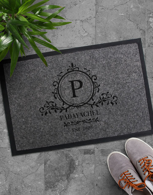 home-decor: Personalised Simple Sophistication Doormat!