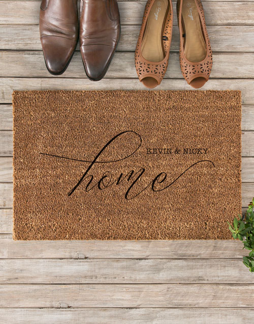 valentines-day: Personalised Couples Home Doormat!