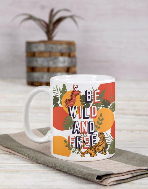 homeware: Personalised Be Wild And Free Mug!