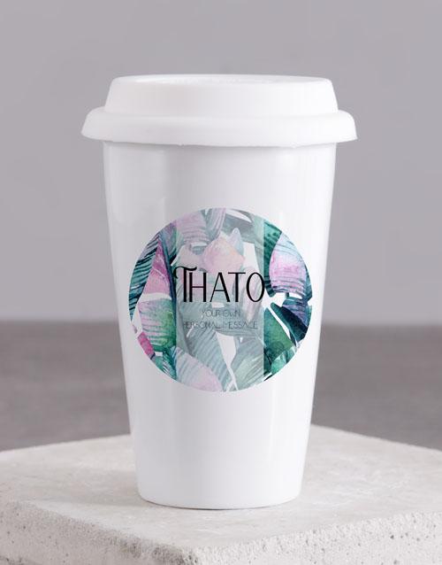 personalised: Personalised Leaves Travel Mug!