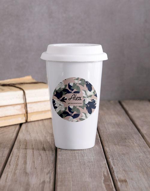 personalised: Personalised Floral Camouflage Travel Mug !