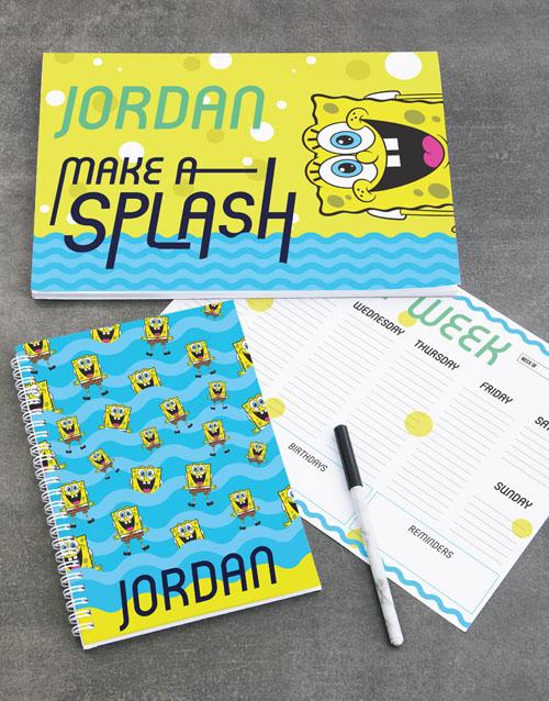 personalised: Personalised SpongeBob Splash Stationery Set!