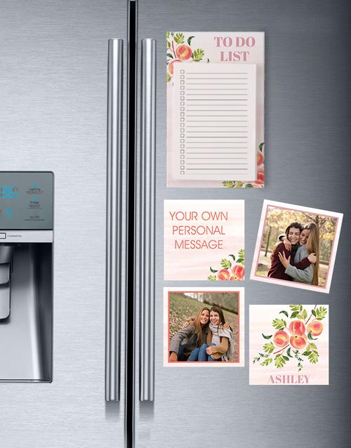 mothers-day: Peachy Fridge Magnet Set!