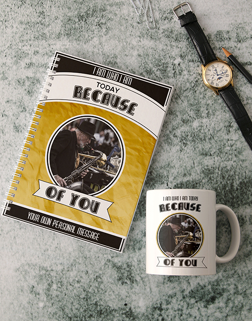 fathers-day: Personalised Because Of You Notebook!