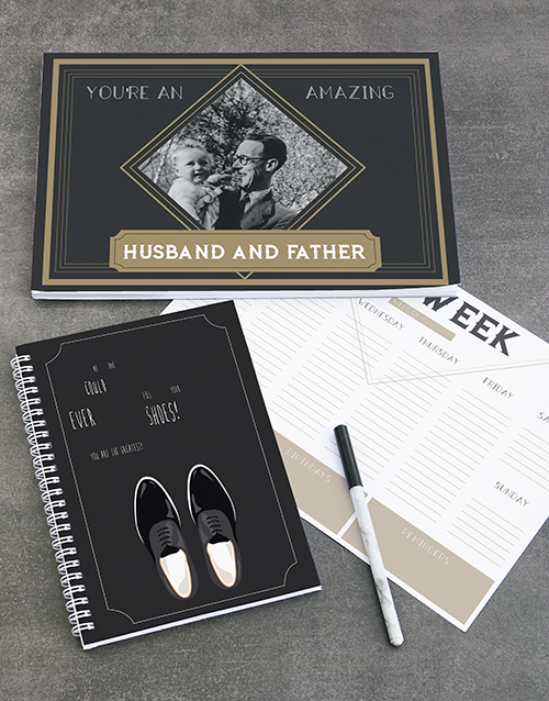 fathers-day: Personalised Husband And Father Note Set!