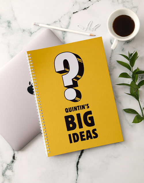 fathers-day: Personalised Big Ideas Notebook!